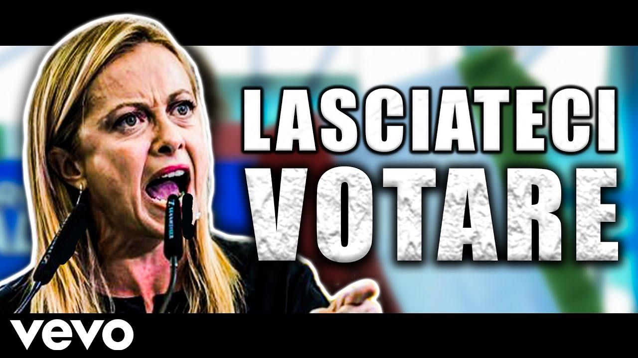 Giorgia Meloni canta LASCIATECI VOTARE