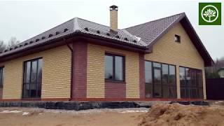 Строительство 1-этажного дома 115 м2 / Строительство домов из газобетона под ключ / СК Апрель