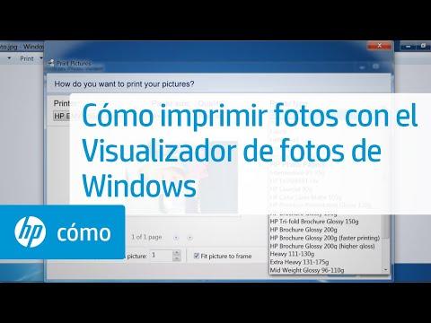 Cómo imprimir fotos con el Visualizador de fotos de Windows   HP Computers   HP