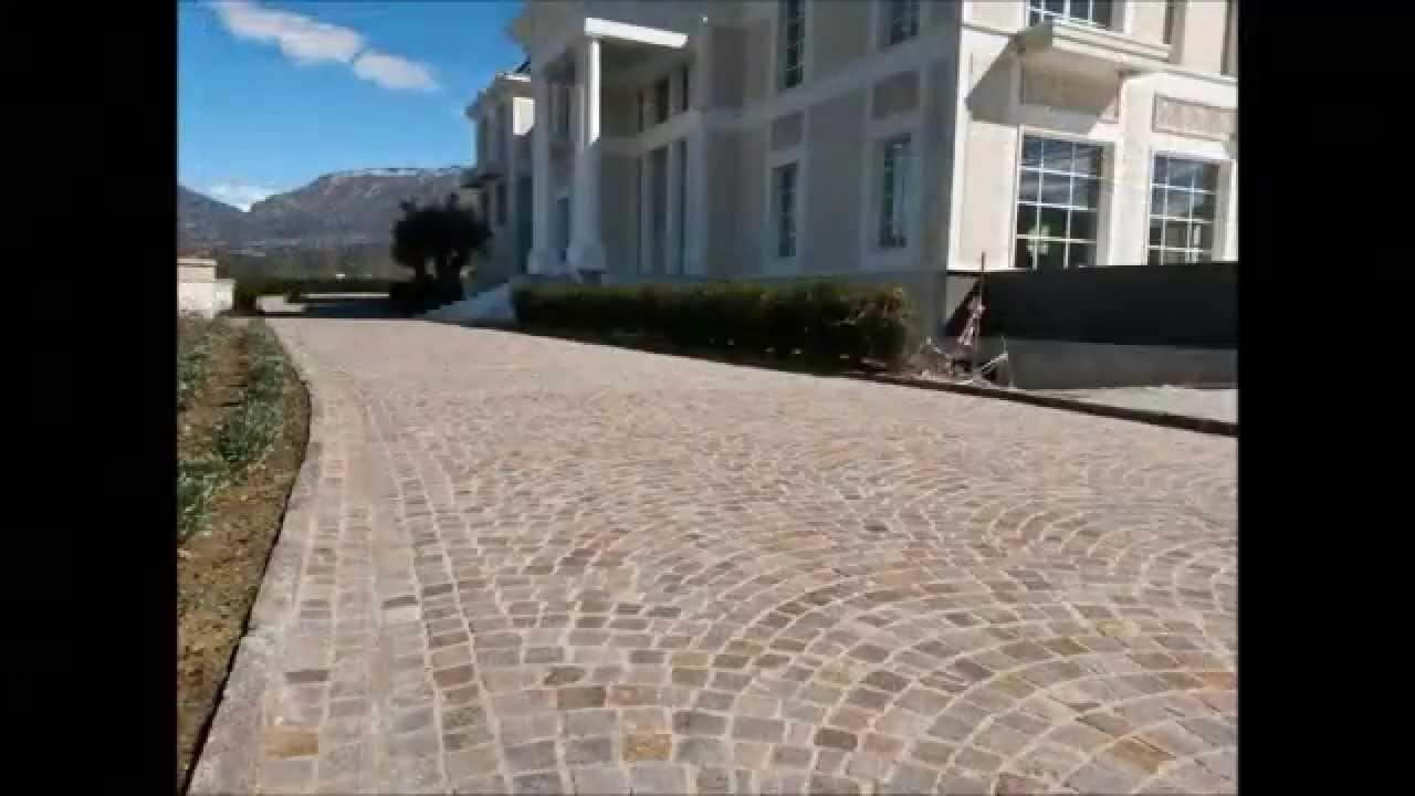 PLM pavimenti in pietra di porfido per viali e piazzali