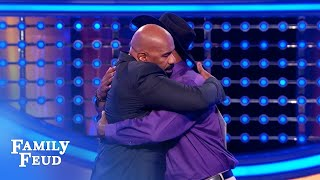 Gerald needs a HUGE answer for $20,000! | Family Feud
