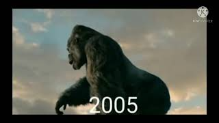 Kong evolution 1962 vs 2005 vs 2021