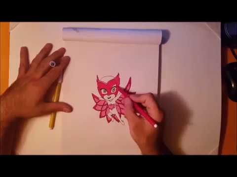 Come disegnare pj masks gufetta da colorare per bambini - Disegnare le proprie pagine da colorare ...