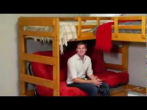 Woodcrest Heartland Futon Bunk Bed With Extra Loft Bed Product