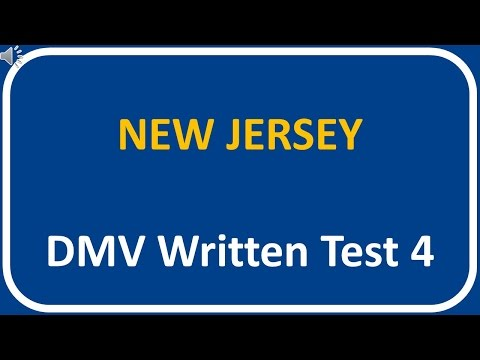 New Jersey DMV Written Test 4