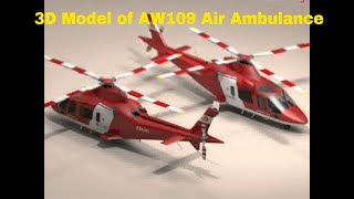 3D Model of AW109 Air Ambulance