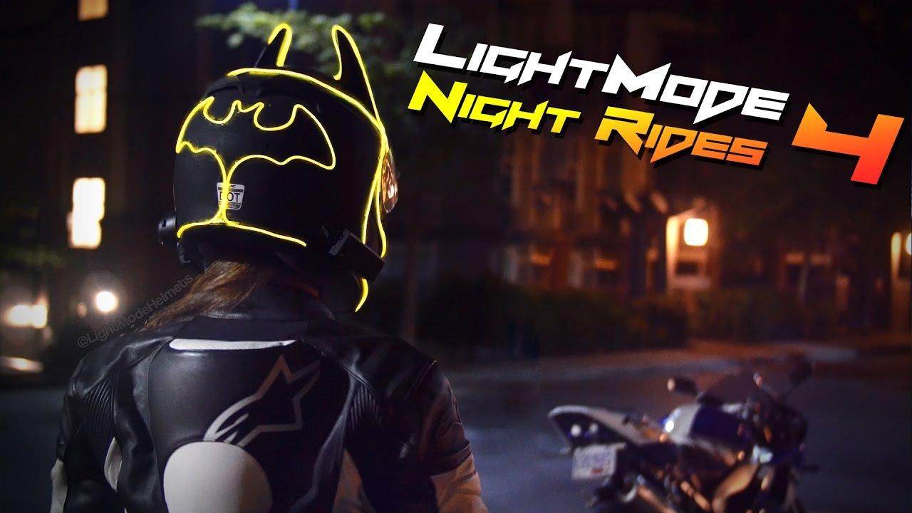 batman helmet lightmode night rides 4 youtube