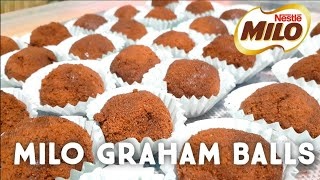 3-INGREDIENT MILO GRAHAM BALLS! WITH CHEESE INSIDE | SOBRANG DALI GAWIN! PINOY TASTE