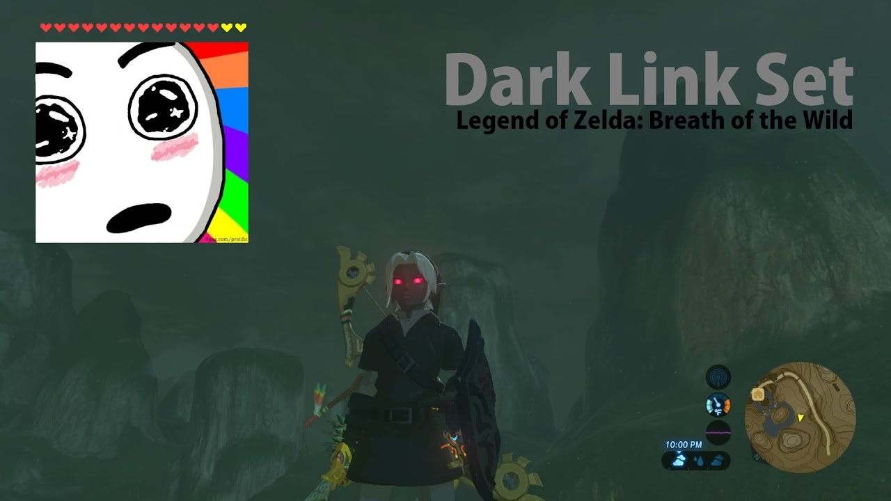 Zelda Breath Of The Wild Dark Link Tunic Set Youtube