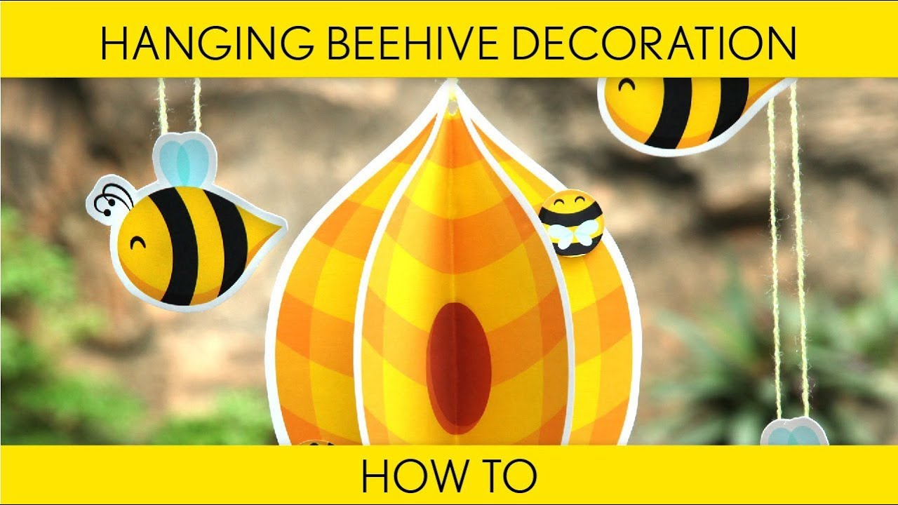 How To Make Hanging Beehive Decoration Birthday Party Bumblebee