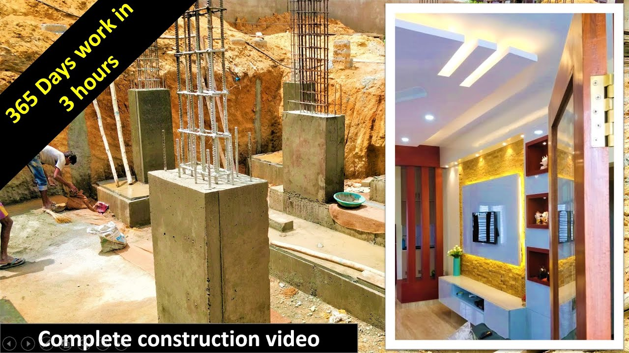 365 days work in 3 hours - A complete video of house construction - A2Z Construction