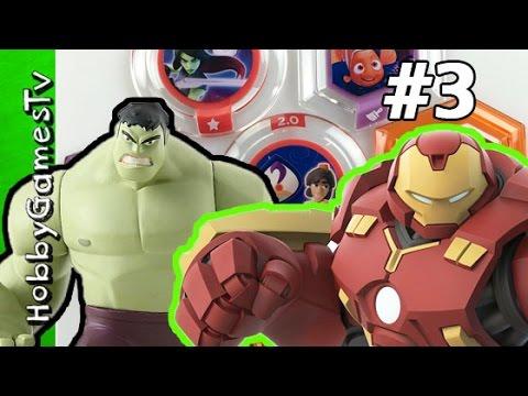Hulk vs Hulk Buster Disney Infinity 3 0 Power Disc HobbyGamesTV
