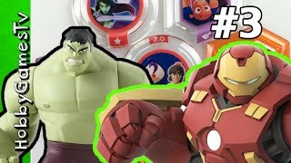 Hulk vs Hulk Buster Disney Infinity 3 0 Power Disc HobbyGamesTV