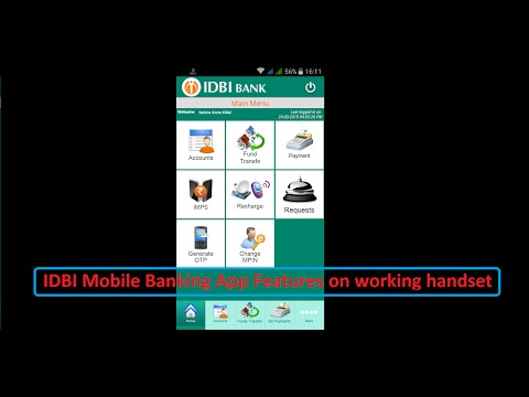 New IDBI mobile banking app working on a android mobile live demo