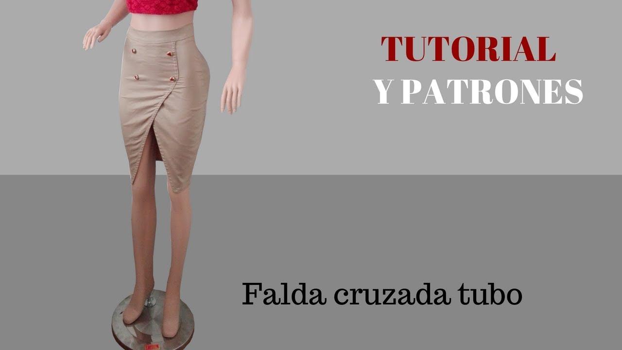 9bba7d4c73 DIY Como hacer una Falda cruzada Corte y confección - YouTube