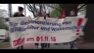 Neue Studentenproteste  - 1.11. 2018 an der Uni in Hamburg