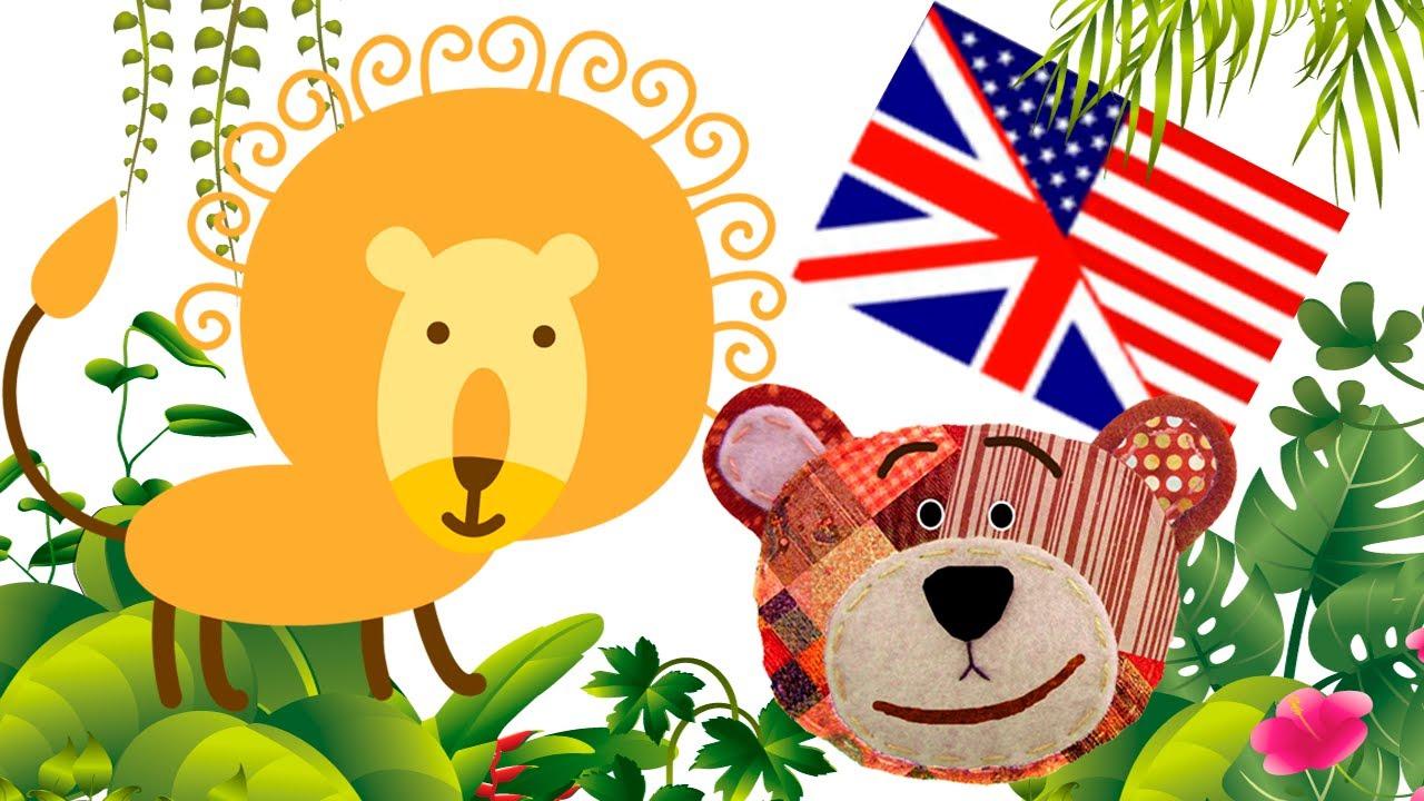 Los animales de la selva en inglés para niños - YouTube