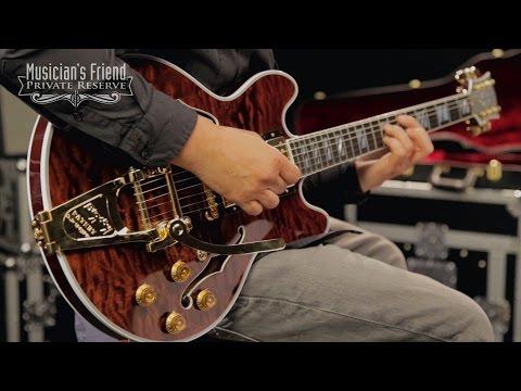 Gibson Custom CS-356 Figured with Bigsby Electric Guitar, Walnut Stain Gloss