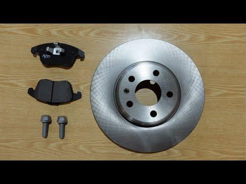 AUDI A4B8. Замена тормозных колодок и диска