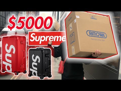 I SPENT $5000 on SUPREME! Rimowa Drop