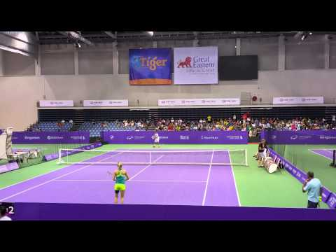 Eugenie Bouchard in Singapore WTA Finals 2014