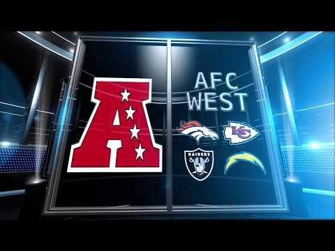 Betting 2017 NFL • AFC West Season Win Totals • Top Teams in the AFC West