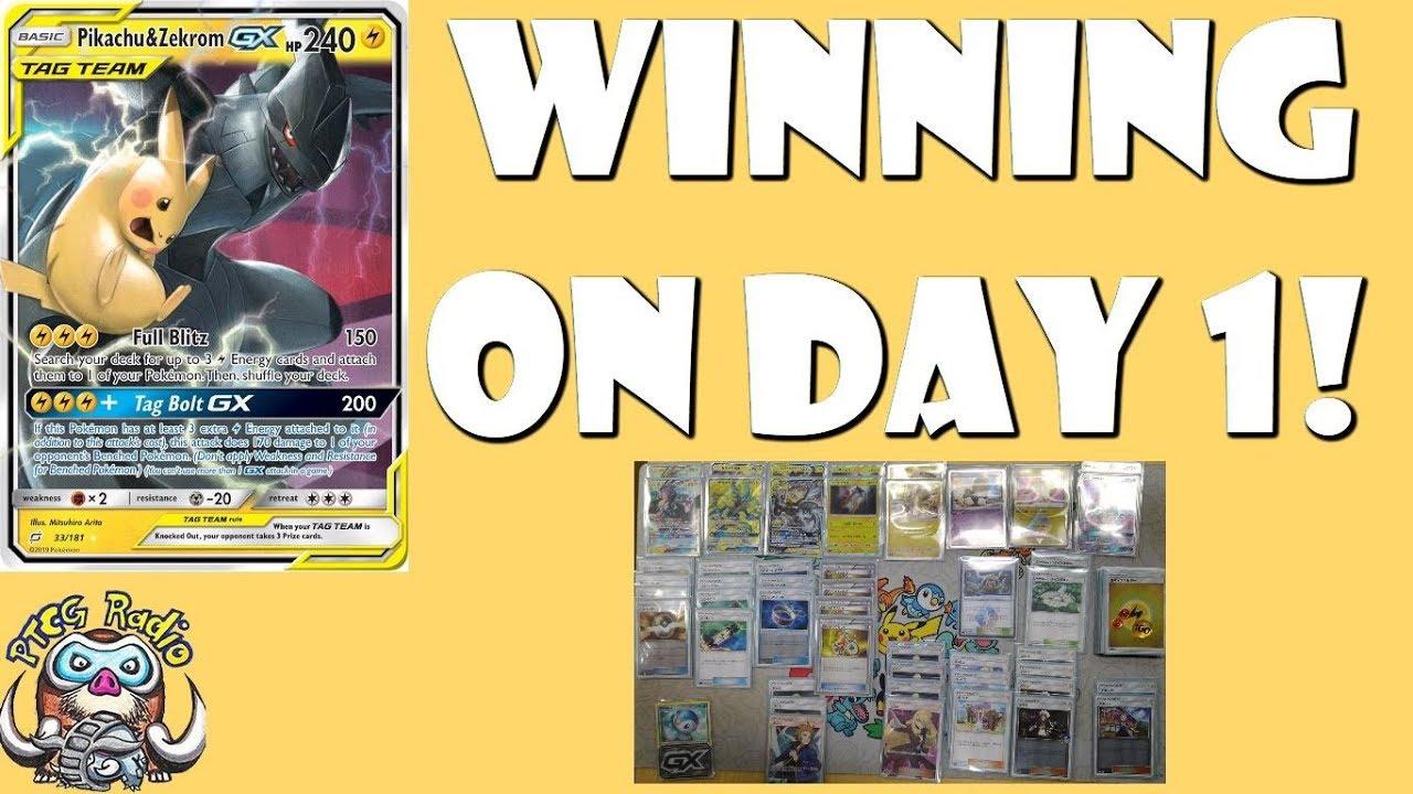 Pikachu Zekrom Gx Won A Pokemon Tournanment On Day 1 First Day