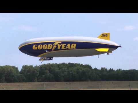 Wingfoot One Goodyear Blimp at Brainard Airport
