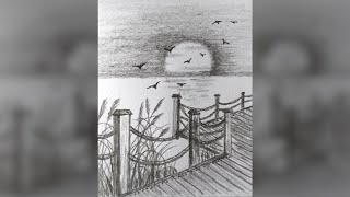 ПЕЙЗАЖ 2 Как нарисовать красивый ЗАКАТ/РАССВЕТ карандашом