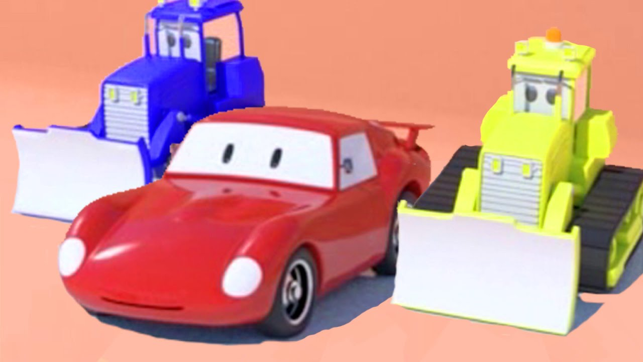 bulldozers et spid la voiture de course dessins anim s pour enfants youtube. Black Bedroom Furniture Sets. Home Design Ideas