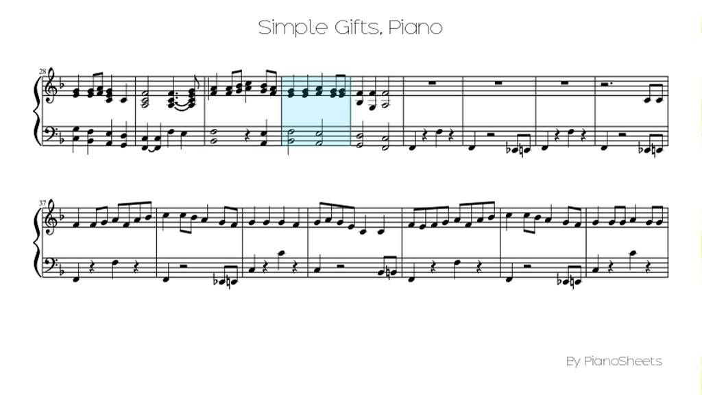 All Music Chords simple gifts cello sheet music : Simple Gifts [Piano Solo] - YouTube