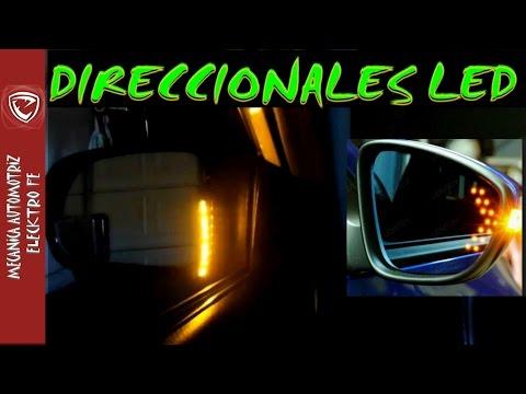 Inslatalacion sencilla de luces LED direccionales (en los espejos laterales)
