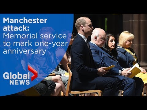 WATCH LIVE: Prince Williams attends memorial marking Manchester attack anniversary