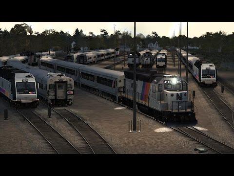 (TS2016) 4112 Arrives and Departs Allenhurst, NJ