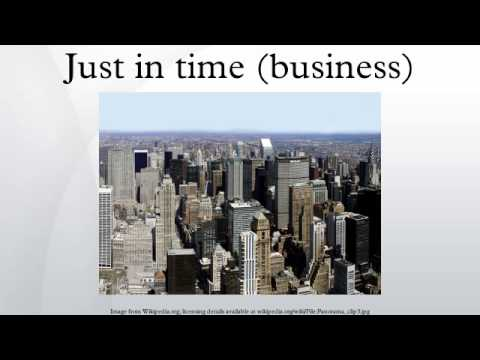 Just in time (business)
