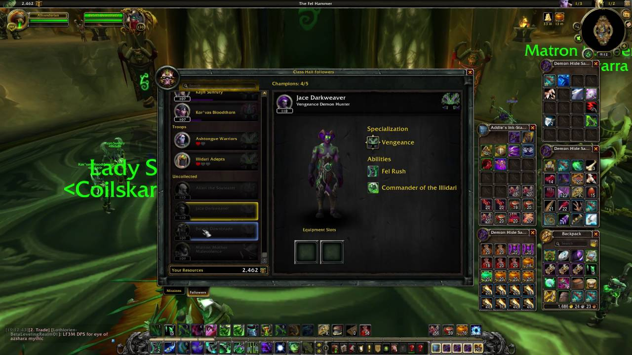 how to use grimoire of knowledge on follower wow legion youtube
