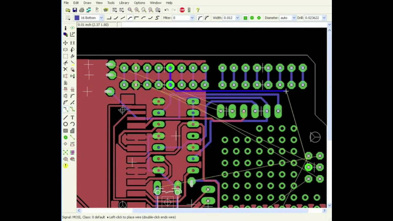 Routing a PCB with EAGLE - YouTube