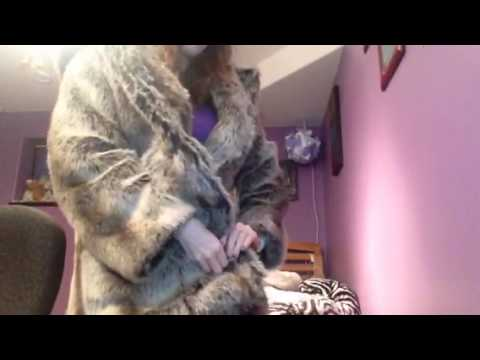 623e54ad1b Spirithoods Grey wolf coat review - YouTube