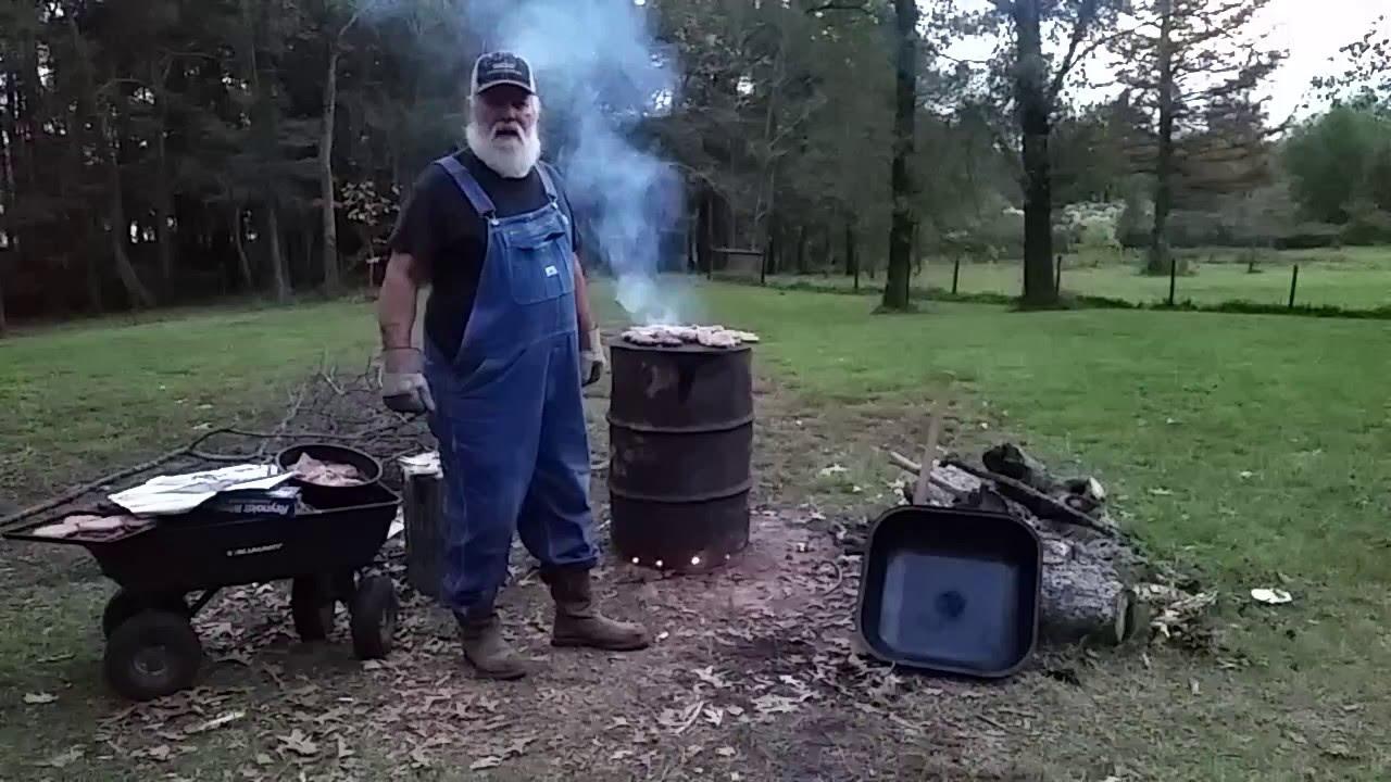 Hobo Barbecue On A Charcoal Making Burn Barrel Youtube