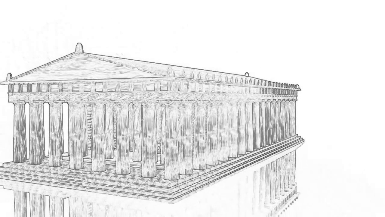 Drawing the Parthenon 3D | Greece-Athens | - YouTube