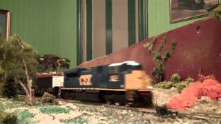 mth csx sd70ace in ho scale