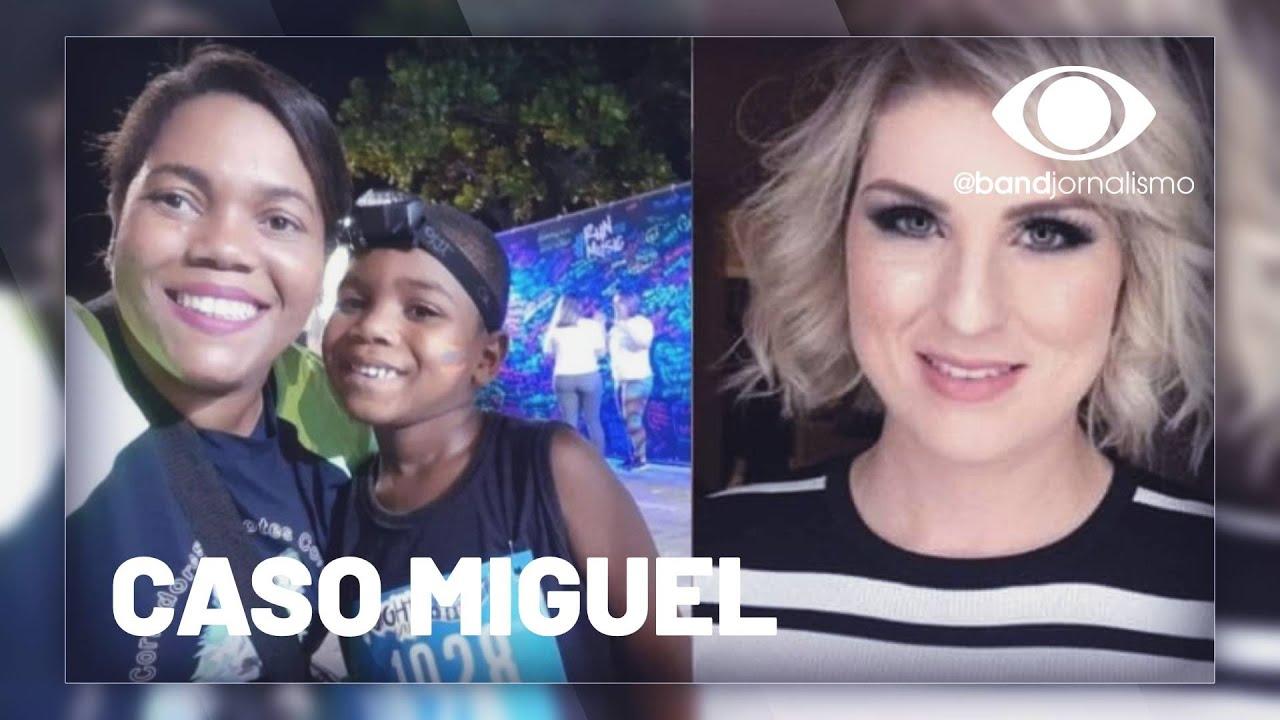 Caso Miguel: depoimento de patroa tem protesto e confusão na saída - online