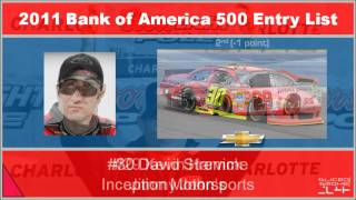 2011 Bank of America 500 Entry List