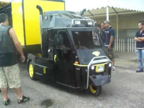 ape truck - motore alfa - - youtube