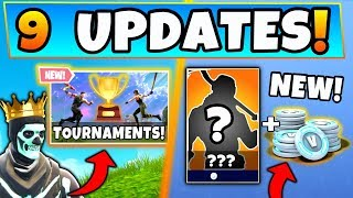 Fortnite Gameplay: 9 *NEW* UPDATES/THINGS COMING SOON! - NEW Skins & Tournaments in Battle Royale