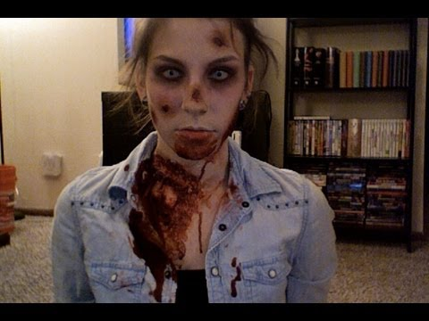zombie halloween makeup tutorial youtube. Black Bedroom Furniture Sets. Home Design Ideas