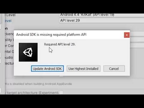 How To Update Unity To Android API Level 29 (Android 10)