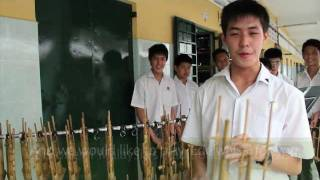 Angklung Traditional Instrument Music in Malaysia