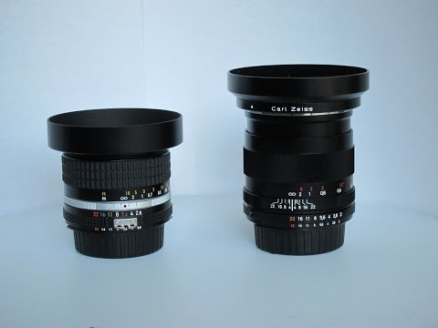 Nikkor 28mm f/2.8 Ai-S vs. Zeiss Distagon 28mm f/2.0