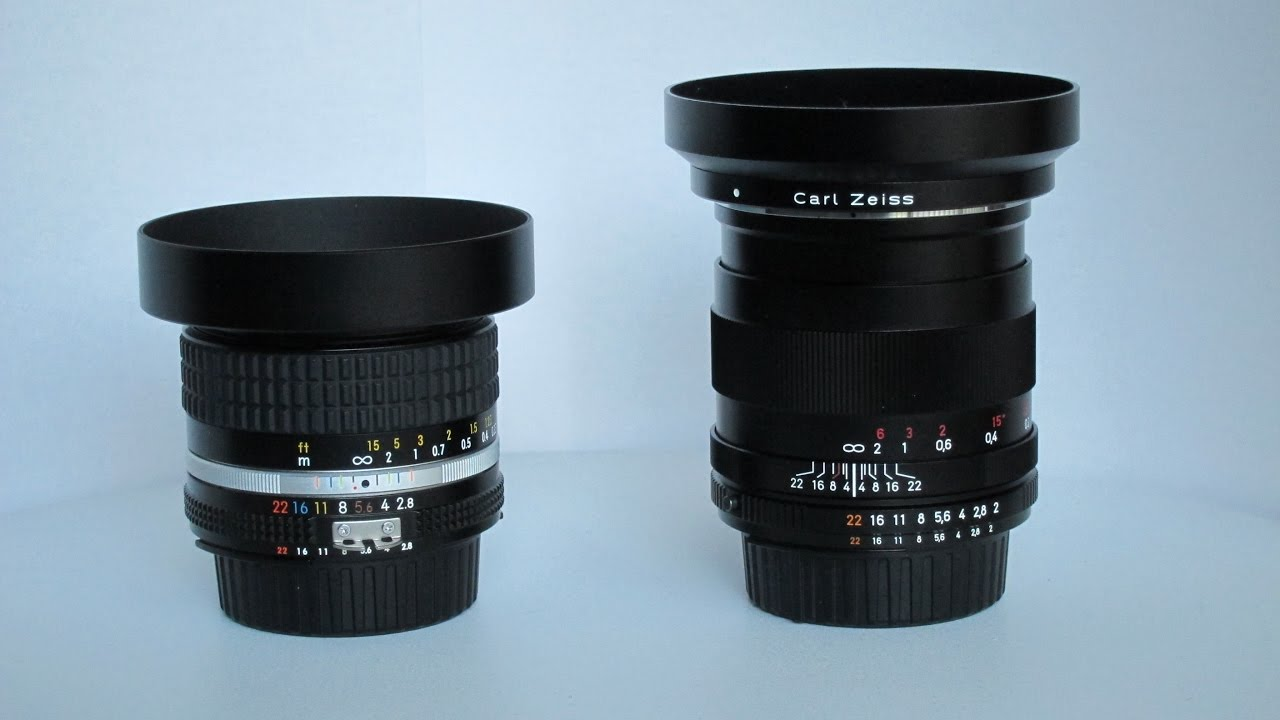 Nikkor 28mm f/2 8 Ai-S vs  Zeiss Distagon 28mm f/2 0
